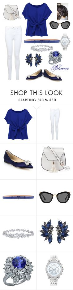 """""""Blue is the new Black"""" by tasneem2016 ❤ liked on Polyvore featuring Miss Selfridge, Jimmy Choo, Yoki, Moschino Cheap & Chic, Miu Miu, Harry Winston and Lane Bryant"""