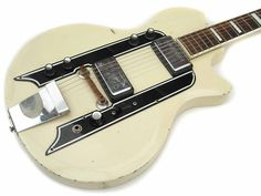 Airline Town And Country 1959 White Guitar For Sale Wutzdog Guitars