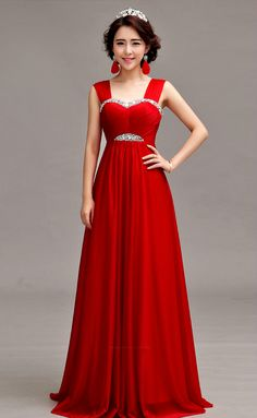 Princess red color Christmas Gowns