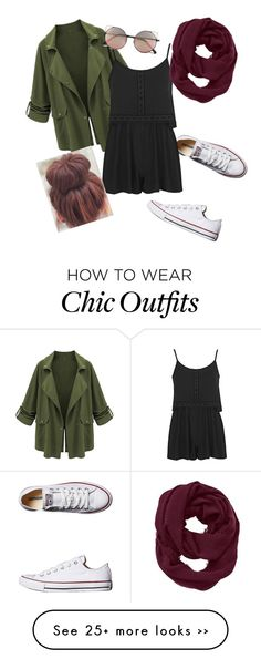 """easy look"" by maddymoo2014 on Polyvore featuring Converse, Topshop, Athleta and Linda Farrow"