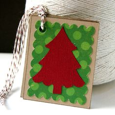 Holly Jolly Christmas Tree Christmas Gift Tags by Scrap Bits.