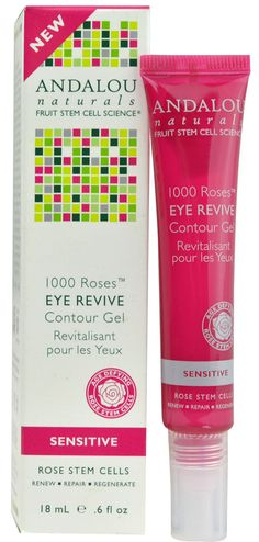 Andalou Naturals 1000 Roses™ Eye Revive Contour Gel Sensitive