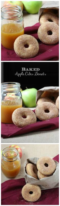Baked Apple Cider Donuts are a delectable treat with cinnamon sugar!