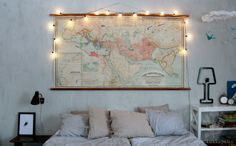 Old map & Sabrina Fozzi´s ColoredShape lamp.