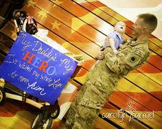 """Operation Love Homecoming ... A soldier meeting his son for the first time ...  """"My Daddy's my HERO. I've been waiting my whole life to meet him!"""""""
