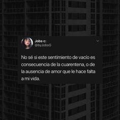 "Jobs c: on Instagram: ""Sígueme en @byjobsg y @joobssss para mas contenido como este uwu.  . . . . . . . . . . . #twitter #tweets #twitterpost #retweet…"" Spanish Quotes, Crushes, Sad, Tumblr, Twitter, Memes, Amor, Texts, Sentimental Quotes"