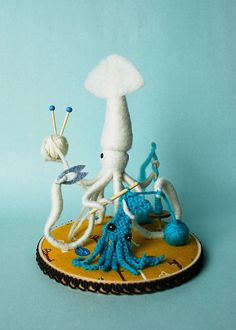 Print - Mr. White Squid, A Very Handy Crafter, Single
