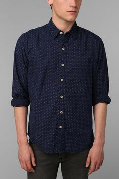 Your Neighbors Billie Polka Dot Shirt - Urban Outfitters