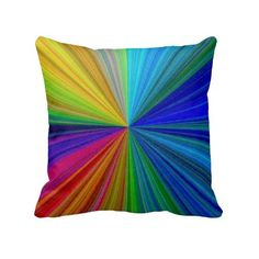 Color Circular Rainbow Array 1 Pillow ❤ liked on Polyvore featuring home, home decor, throw pillows, blend, color, pattern, round toss pillows, round throw pillows, round accent pillows and colored throw pillows