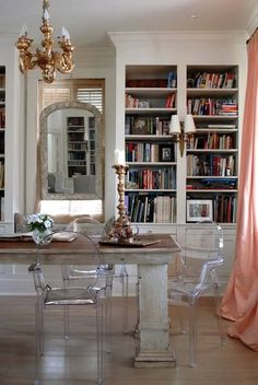 Classy chic: Home Library.