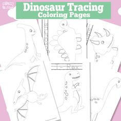 Free Printable Dinosaur tracing Pages