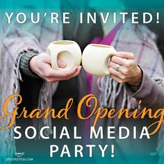 On Friday October 4th at 11am/EST we are throwing a Social Media party!   Party with the Founder Tonia, CEO Hatem, CBC Dragons David Chilton and Jim Treliving, Direct Sales Superstar Belinda Ellsworth and the rest of the Steeped Tea TEAm!  We will be posting videos, shout outs, answering your questions and above all - giving out FREE stuff!  So join us on our Steeped Tea Inc Facebook page, on twitter at @Steeped Tea Inc and on instagram at @Steeped Tea Inc. Look forward to partying with you…