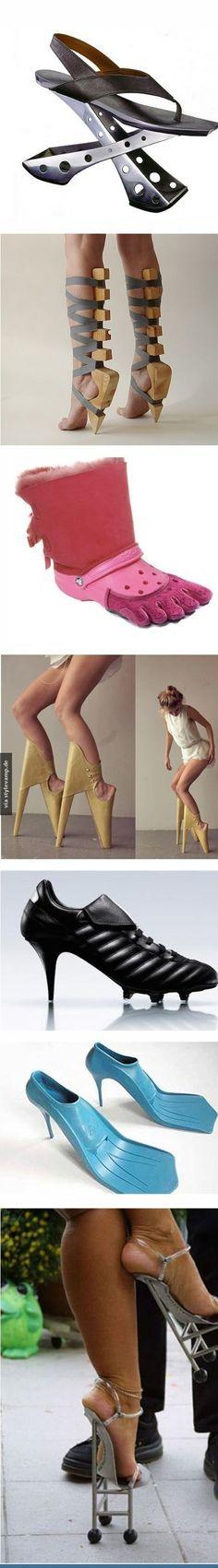 Katastrophale Schuhe!