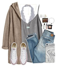 Went to eat some crepes and go to the farmers market by victoriaann34 on Polyvore featuring H&M, RVCA, American Eagle Outfitters, Converse, Kendra Scott, Irene Neuwirth, Recover, Bobbi Brown Cosmetics and Morphe