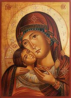Total Consecration of oneself to Jesus Christ, Wisdom Incarnate, through the hands of Mary according to St. Louis Marie de Montfort: D. Religious Pictures, Religious Icons, Religious Art, Blessed Mother Mary, Divine Mother, Byzantine Icons, Byzantine Art, Madonna Art, Images Of Mary