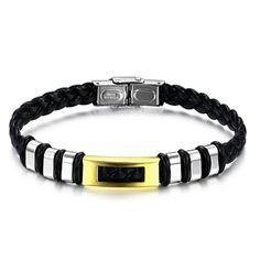 Golden Zebra Stainless Steel Men's Bracelet #pinittowinit #mensbracelet #florencescovel