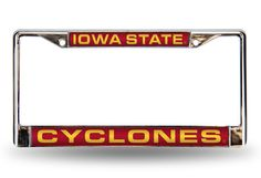IOWA STATE RED LASER CHROME FRAME