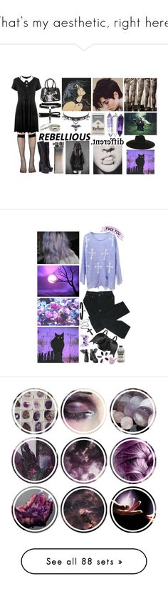 """""""That's my aesthetic, right here."""" by gh0stlypal3 ❤ liked on Polyvore featuring Music Legs, La Senza, Kill Star, Hot Topic, KAOS, GET LOST, Ultimate, Yves Saint Laurent, KanineSets and Chicnova Fashion"""