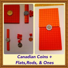 Using coins and base ten blocks to solidify understanding of numerical and monetary amounts. Base Ten Blocks, Canadian Coins, Your Teacher, Grade 1, Money, Math, Math Resources, Mathematics, Silver