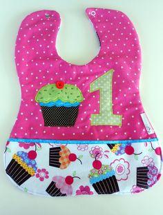 Custom Baby Girl 1st birthday Cupcake 1st by Stitchedbygigi, $21.95
