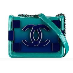 Check Out Chanel's Spring 2014 Bags, Now in Stores - PurseBlog ❤ liked on Polyvore featuring bags, handbags, purses, chanel, clutches, rucksack purse, blue handbags, backpacks bags, checked bags and chanel purses