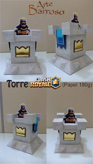 ARTE BARROSO: DECORAÇÃO GAMES. Torre Clash Royale e Topo de Bolo... Super Mario Bros, Bolo Super Mario, 12th Birthday, Birthday Parties, Royal Party, Reception Table, Clash Of Clans, Legos, Game