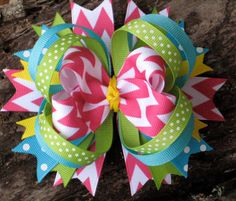 SPRING / SUMMER Hair Bow Boutique Style Pink by PolkaDotzBowtique, $8.99