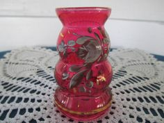 Vintage Bohemian Mini Red Ruby Flash Bud Vase by BitofHope on Etsy