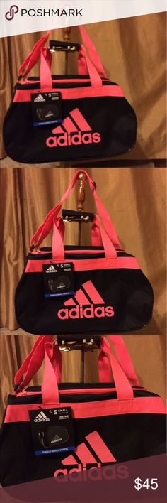 """NWT ADIDAS gym bag BRAND NEW WITH TAGS. Very pretty and gorgeous bags. Long strap as well. Same or next day shipping.  Dimensions: 18"""" L X 11""""W X 12"""" H. Price is firm. Other"""