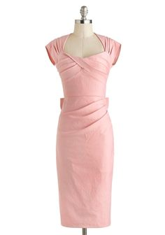 1950s Pink Wiggle Dress.  For work