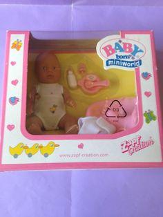 * Baby Born Miniworld Mini. Doll Pack. Rare.  Mint in Box. #ZapfCreation