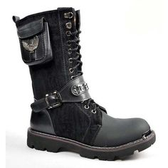 GOTHIC PUNK NUBUCK MEN'S BOOT   my kind of fashion   Pinterest ❤ liked on Polyvore featuring men's fashion, men's shoes, men's boots, mens boots, mens gothic boots, mens punk shoes, mens nubuck shoes and mens shoes