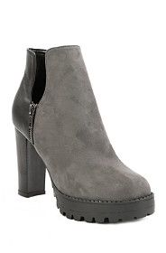 Block Heel Faux Suede Chelsea Boots from Mr Price R239,99