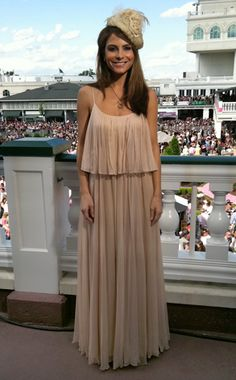 love Maria Menounos in this Halston dress at the Kentucky Derby