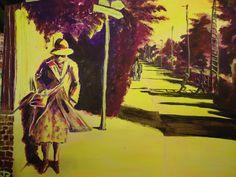Frau im Wind Tageslicht