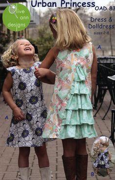 Urban Princess Dress & Doll Dress By Blair, Ann  - Sizes 2-8 & 18in Doll