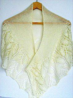 Angora yarn knitting ivory shawl Gift her wedding by ATLASKNITSHOP, $109.00