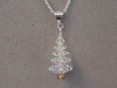 Christmas Jewelry necklace Swarovski Crystal by magiccloset, $16.00
