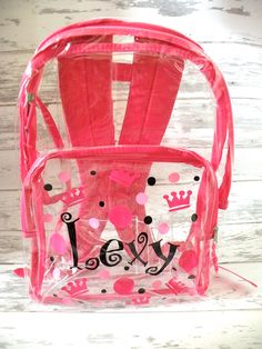 For Her: Hello Kitty Clear Backpack with Pink Trim #walmart | Kids ...