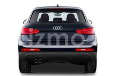 Rear View of Blue 2014 Audi Q3 Ambiente SUV