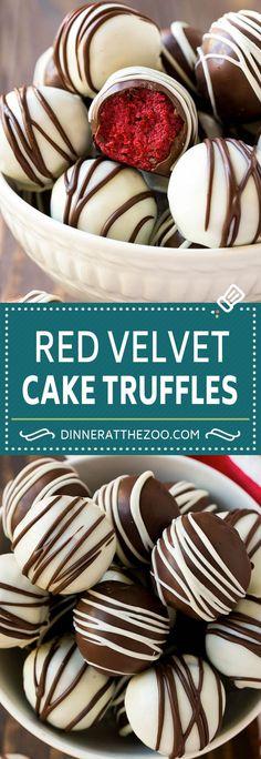 Red Velvet Cake Truffles | Valentine's Day Dessert Recipe | Red Velvet Cake Balls