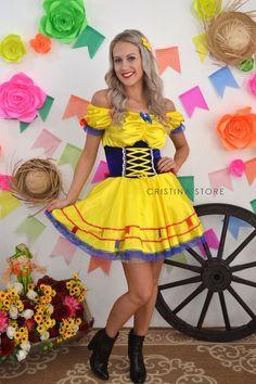 Vestido Amarelo Sun - Caipira Chic