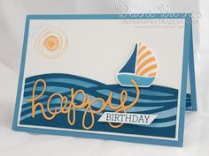 masculine birthday card using Stampin Up Swirly Bird & Hello You thinlit dies & 2016-18 in colors. by Di Barnes #colourmehappy 2016-17 annual catalogue