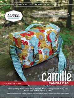 Swoon Patterns: Camille Camera Bag PDF Bag DSLR by SwoonPatterns