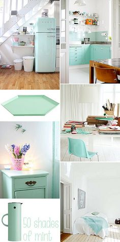 50 shades of mint by IDA Interior LifeStyle, via Flickr