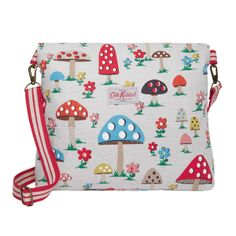 Mushroom & Big Spot Reversible Folded Messenger Bag | CathKidston