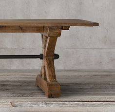 Restoration Hardware 17th C. Ironbolt Trestle Rectangular Table On  Shopstyle.com