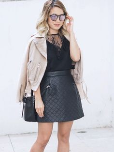 Leather and lace are my favorite combos!