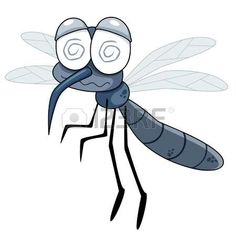 Illustration of Mosquito icon. Cartoon illustration of mosquito vector icon for web vector art, clipart and stock vectors. Dinosaur Outline, Owl Outline, Outline Drawings, Cartoon Drawings, Animal Drawings, Cartoon Cartoon, Kids Vector, Vector Art, A Bugs Life Characters