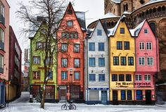 Beautiful colors for row houses - inspiration